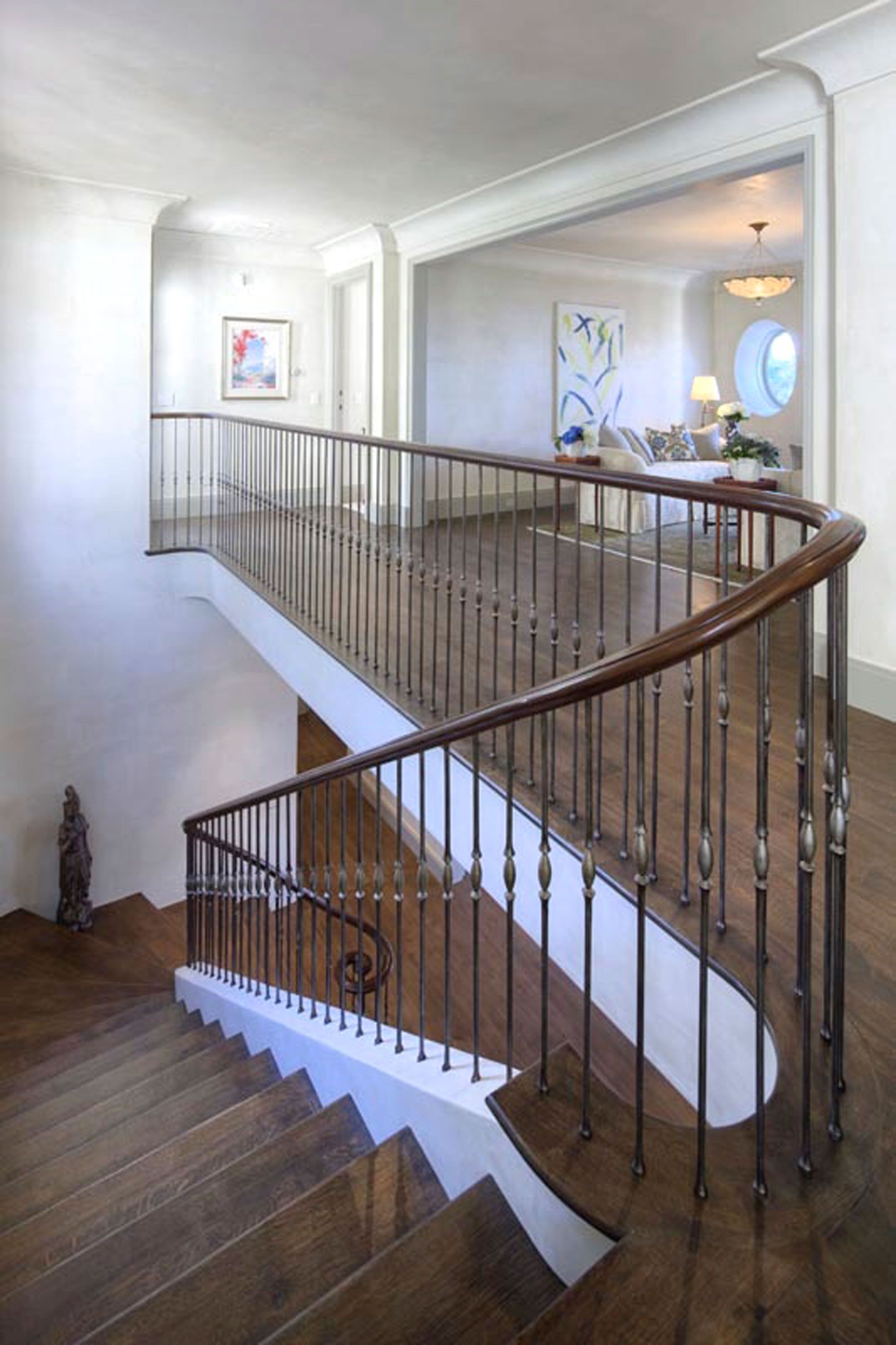 Pebble Beach  Jbid Designed Stair Rail Italian Iron Balusters And