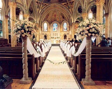 Aisle decor | Wedding Ideas | Pinterest | Church flowers, Wedding ...