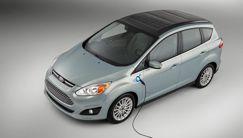 Solar Powered Passenger Car Ford Cmax Solar Energi Hybrid