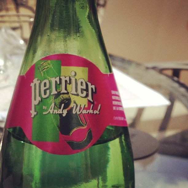 Andy Warhol Perrier bottle, chic in Paris