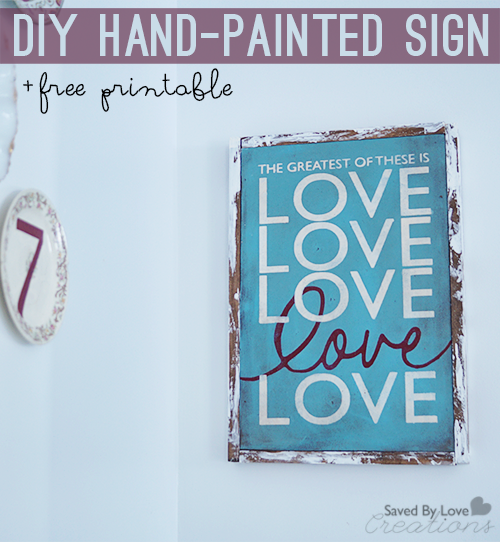 Diy hand painted reclaimed wood sign tutorial and for Wood sign making templates