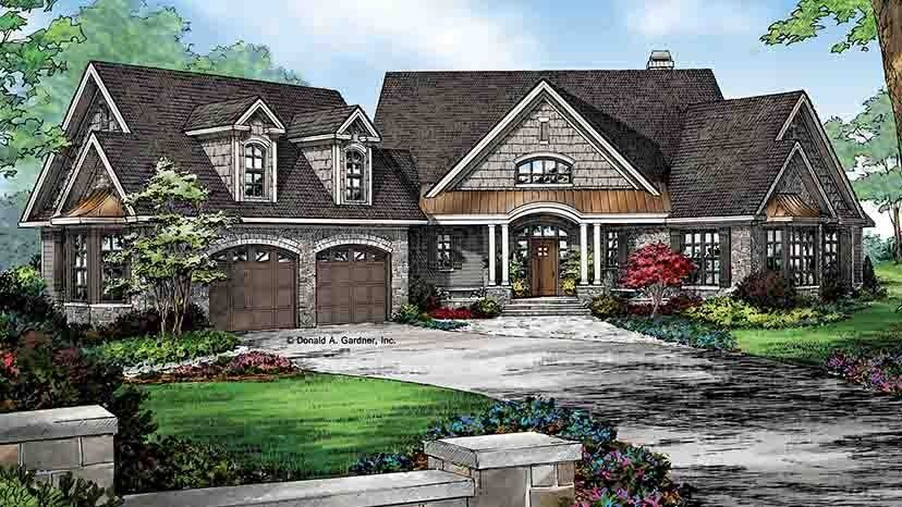 Home plan homepw77125 2950 square foot 4 bedroom 3 for Www homeplans com
