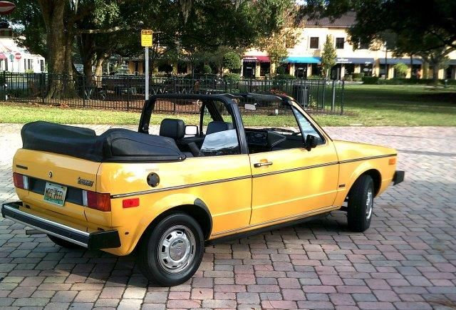 Convertible volkswagen rabbit