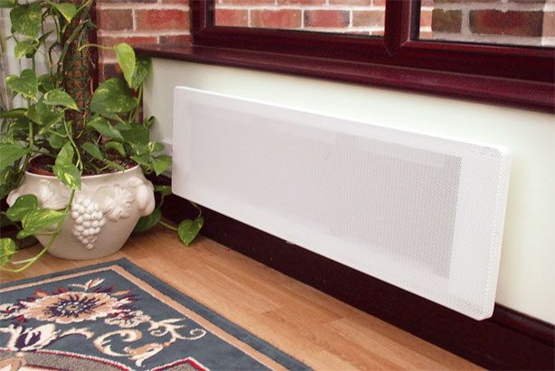 Low level radiant panel heater in conservatory. Low level radiant panel heater in conservatory   Electric