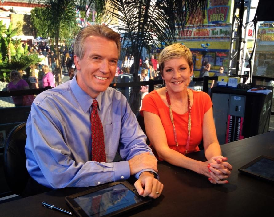 ABC30 Action News Anchors Warren Armstrong And Liz Harrison Kicking Off Our Live Coverage From The Big Fresno Fair We Hope You Will Come See Us During