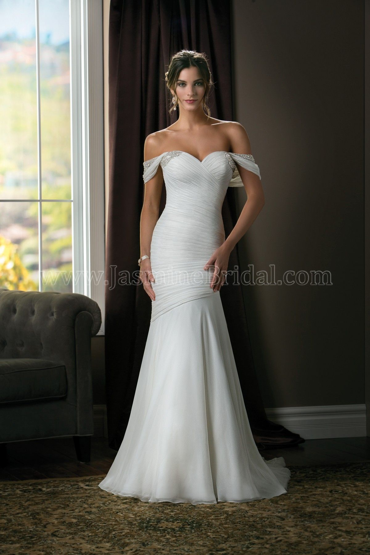 Jasmine Couture Wedding Dress Style T in Ivory