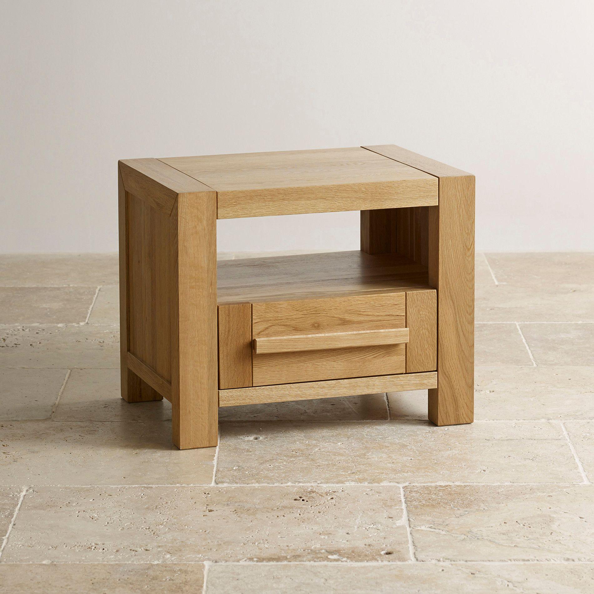 Fresco Natural Solid Oak Bedside Table Tenby Pinterest Oak