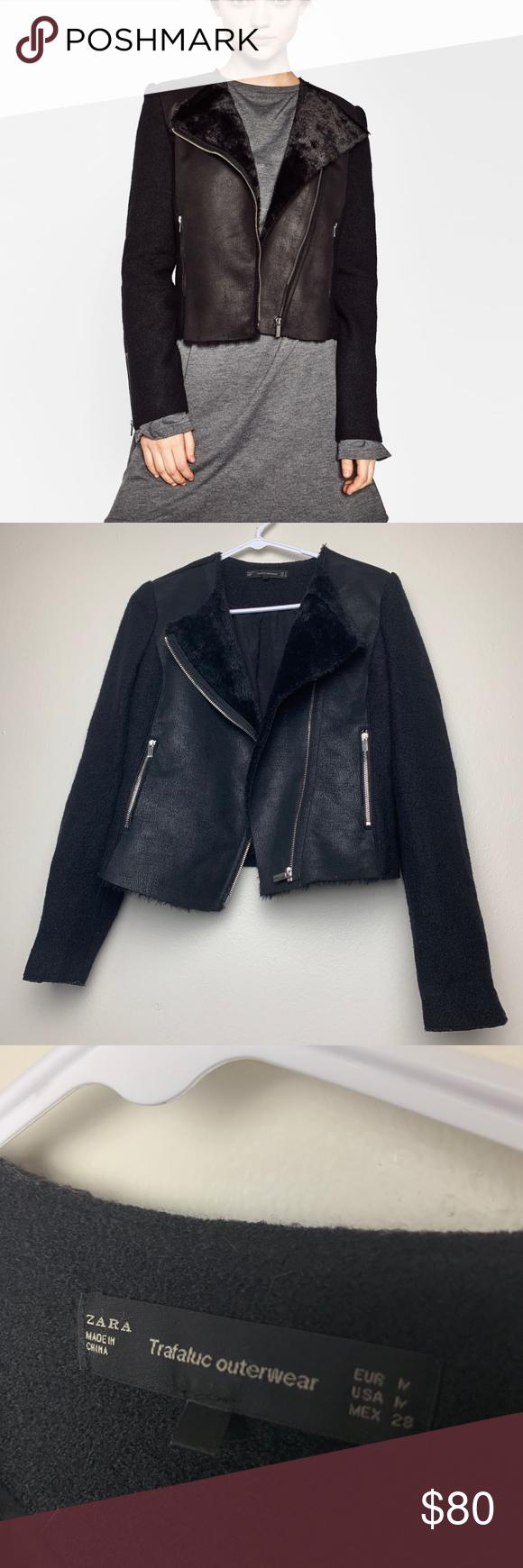 Zara Trf Faux Leather Fur Moto Jacket In Amazing And Clean Condition So Warm Zara Jackets Coats Clothes Design Zara Fashion [ 1740 x 580 Pixel ]