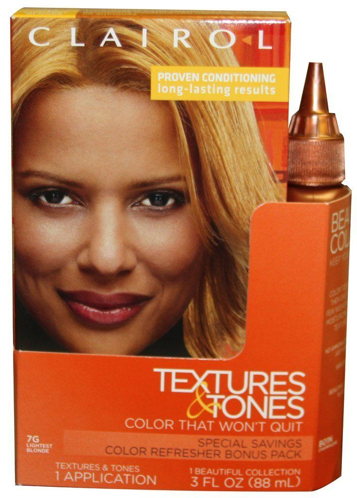 Clairol Textures And Tones Hair Color 7g Lightest Blonde 01n