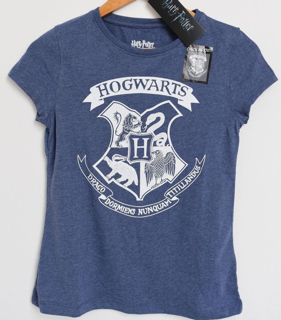 primark hogwarts t shirt harry potter crest blue marl bnwt tee uk sizes 6 20 new harry. Black Bedroom Furniture Sets. Home Design Ideas