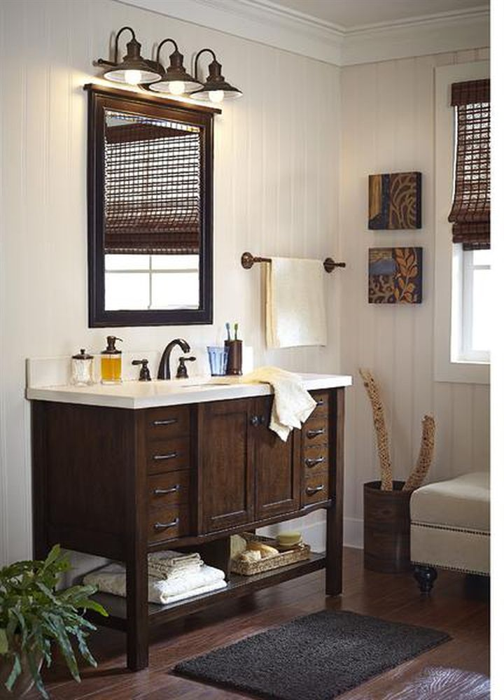Shop Allen Roth Kingscote In X In Espresso Undermount - Lowe's canada bathroom vanities for bathroom decor ideas