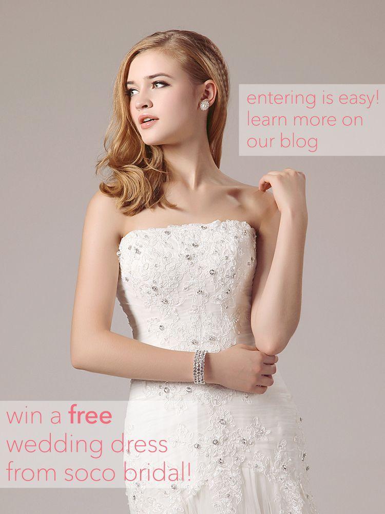 Share Or Pin To Win A Free Wedding Dress Wedding Dress Bridal