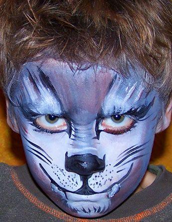 Kinderschminken Wolf Schminken Wolfsgesicht Schminkanleitung Einen