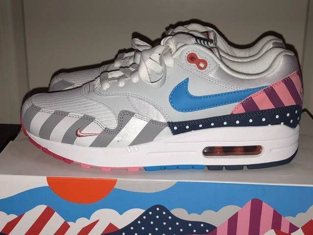 new concept ab3aa 3427a NIKE AIR MAX 1 PARRA- SIZE 11 USA- 10 UK- 45 EU- MEN SNEAKERS  fashion   clothing  shoes  accessories  mensshoes  athleticshoes (ebay link)