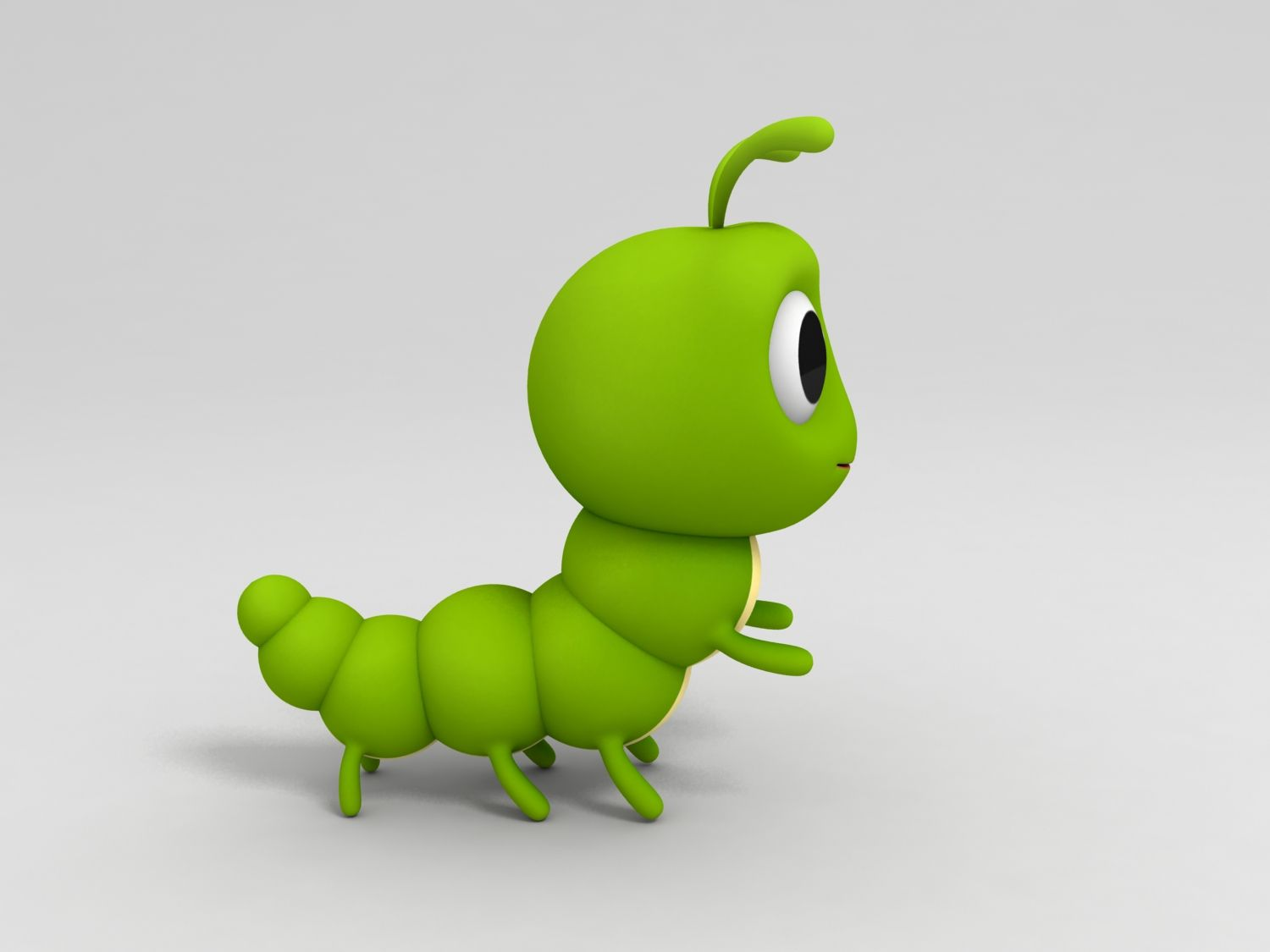 Worm Cartoon Styles Worms 3d Model Character