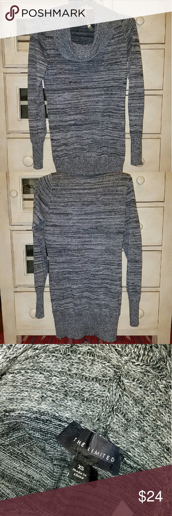 NWOT The Limited Cowl Neck Sweater/Tunic NWOT The Limited Cowl Neck sweater/tunic. Size XSMALL. Has never been worn. The Limited Sweaters