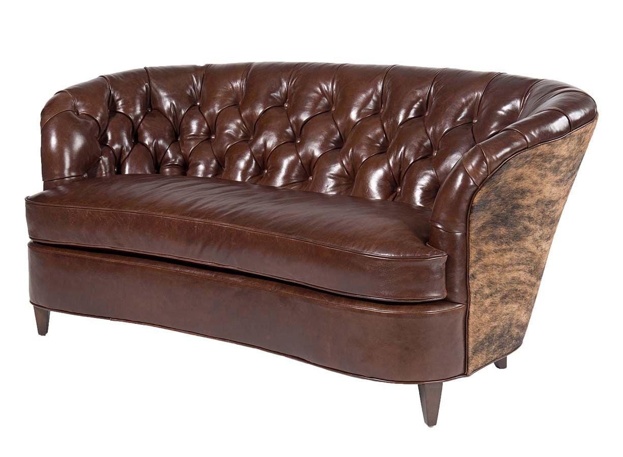 Savannah Curved Leather Sofa Western Sofa Amp Loveseats