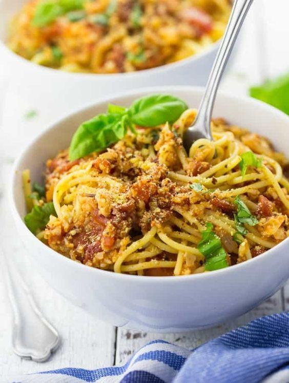 Vegane Bolognese aus Blumenkohl #healthyweeknightmeals