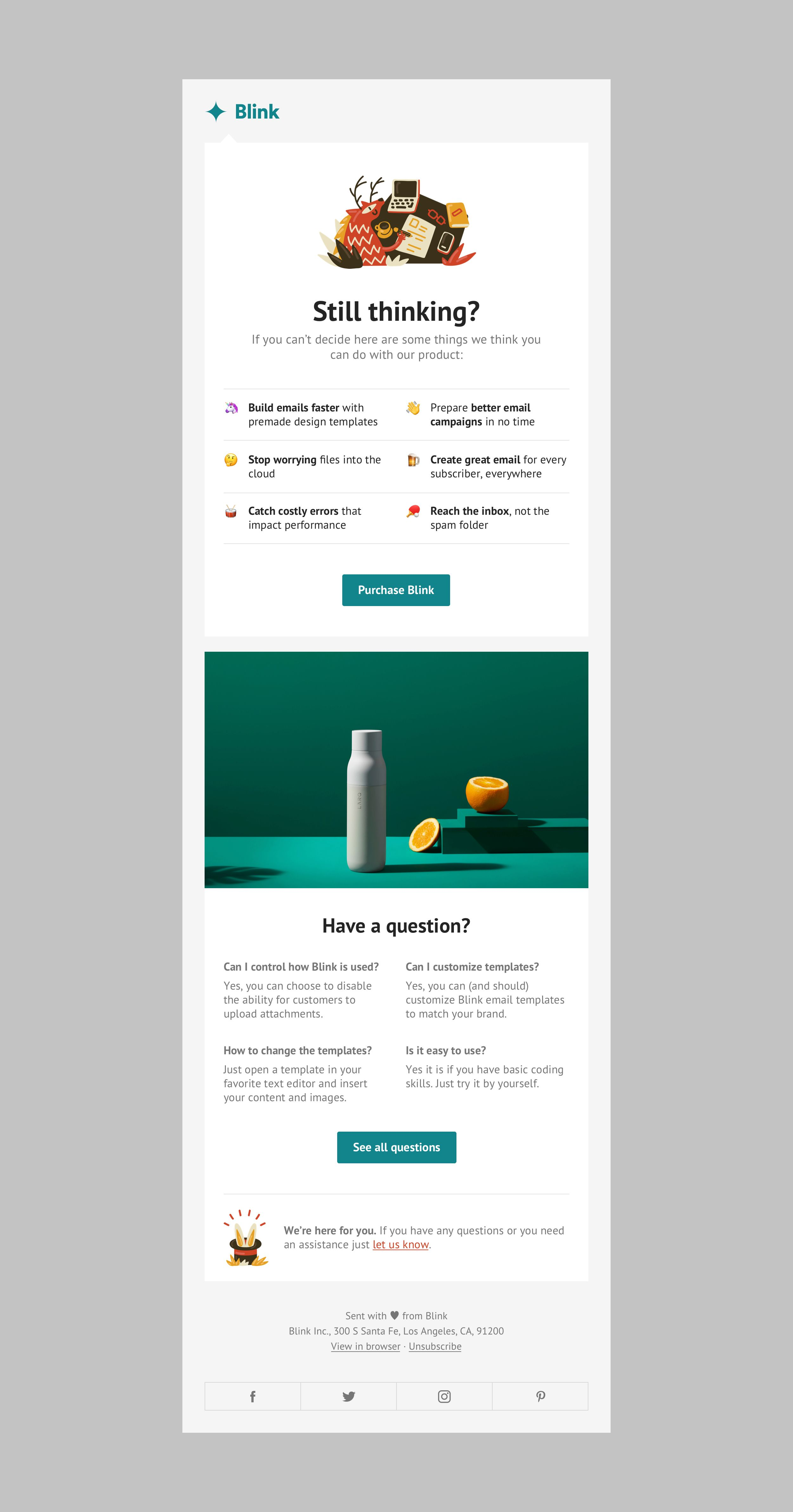 Blink Newsletters Html Email Newsletters Nice Email Marketing Template Design Email Template Design Email Marketing Template