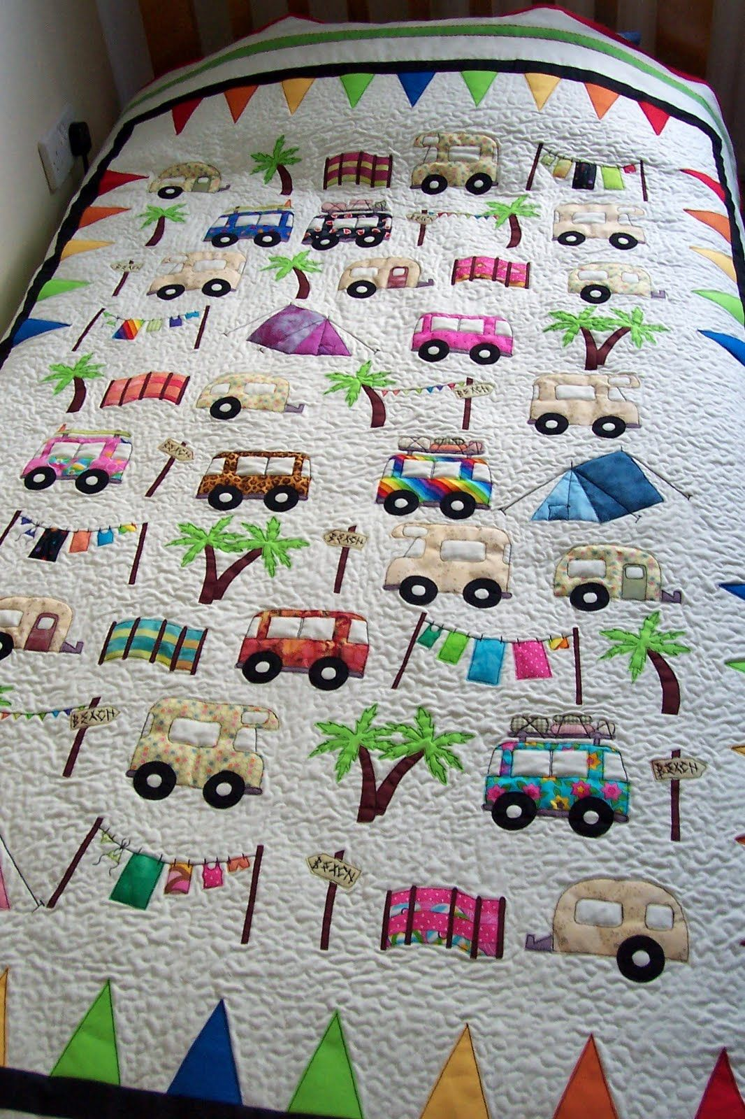 Camping Quilt I Want This For The Trailer Quilts