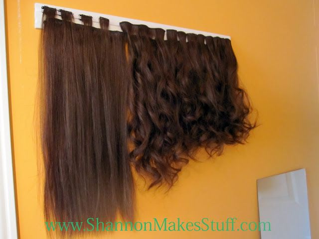 Shannon Makes Stuff: DIY clip on Hair Extension Holder. I ...