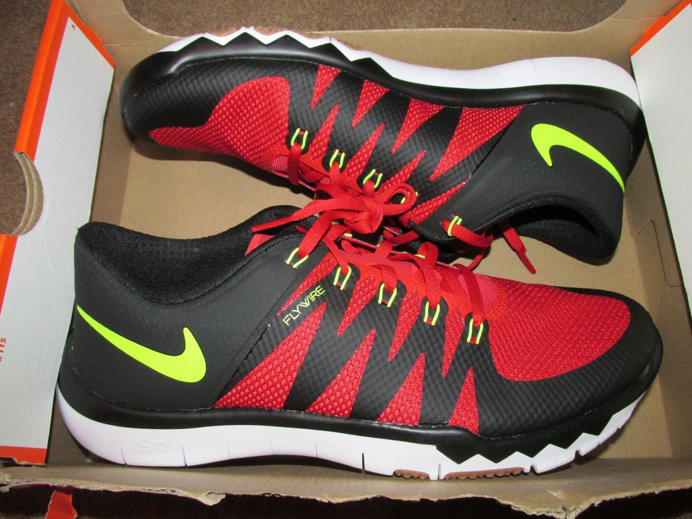 86adce30c78a ... cheapest nike free trainer 5.0 v6 mens training shoes 10 red black volt  719922 670 nike