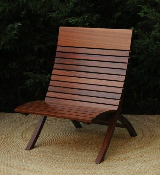 Mahogany Indoor Outdoor Barcelona Chair Outdoor Chairs Diy Wood Chair Design Furniture Design Chair