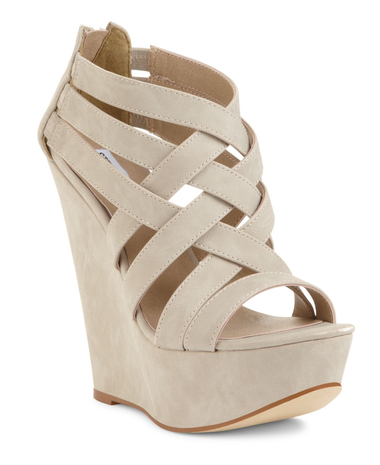 Steve Madden Women's Shoes, Xcess Platform Wedge Sandals ...