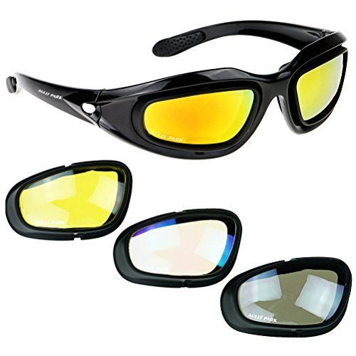 80a22c93ab0 Amazon.com  3 Pair Motorcycle Riding Glasses Smoke Clear Yellow  Automotive