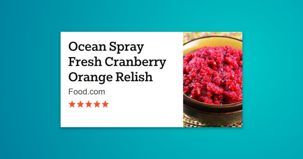 This is a very refreshing recipe I have used for years. It comes from the bag of Ocean Spray Cranberries …