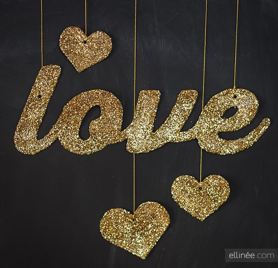 Tutorial :: Glitter Love and Hearts