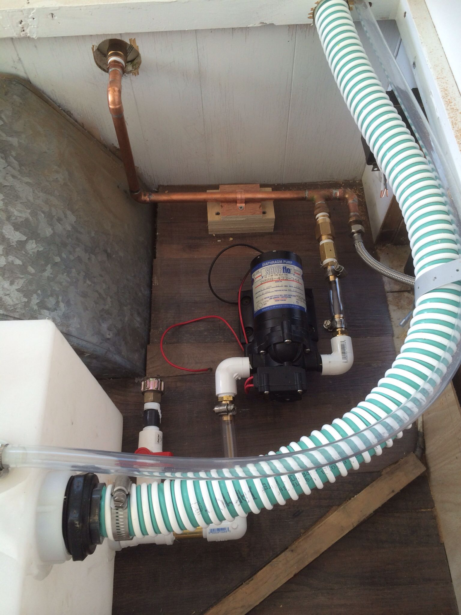 New Water Tank And Plumbing Restoring My Vintage 1963 Traveleze Wiring Hot Heater