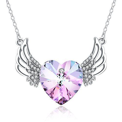 405b9b1563f2 Mothers Day Gift Mom Birthday Angel Wing Heart Pendant Necklace Love Crystal  NEW  PendantNecklace  Pendant