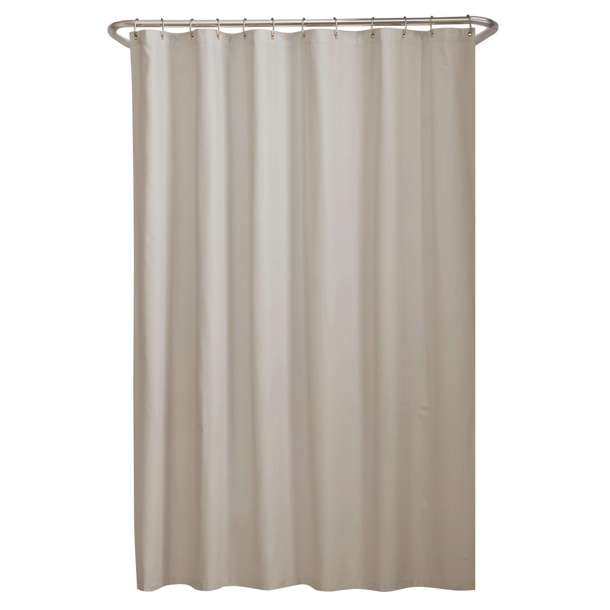 Water Repellant Microfiber Shower Liner Cream Maytex Fabric