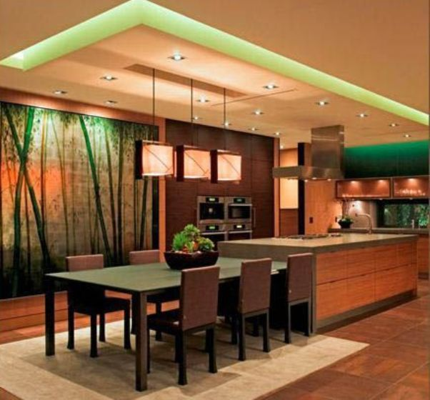 modern oriental kitchen ideas with mural bamboo wallpaper | Kitchen on traditional kitchen ideas pinterest, french country kitchen ideas pinterest, modern kitchen ideas pinterest, mexican kitchen ideas pinterest,