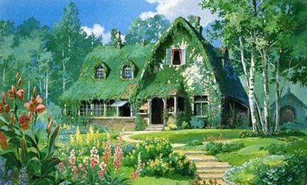 ジブリ Kikiの家 スタジオジブリ アニメの風景 ジブリ
