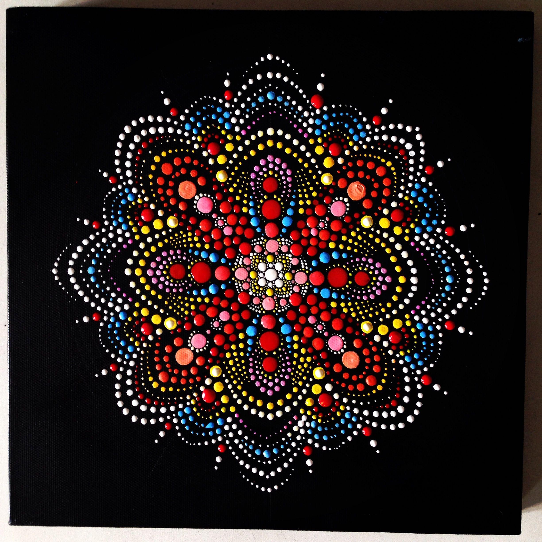pin by karen wetli wang on dotted paintings pinterest pointillisme mandala and peinture. Black Bedroom Furniture Sets. Home Design Ideas