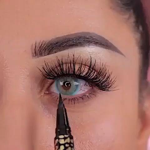 How To Apply False Eyelashes Video Fake Eyelashes Applying Eyelashes How To Apply Fake Eyelashes