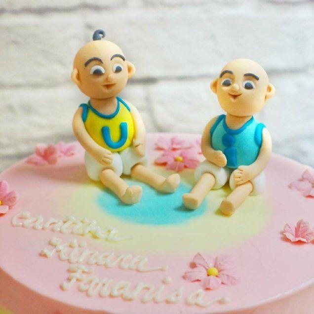 upin and ipin cake design Upin Ipin birthday cake  Upin ipin birthday cake, Cake, Girly cake