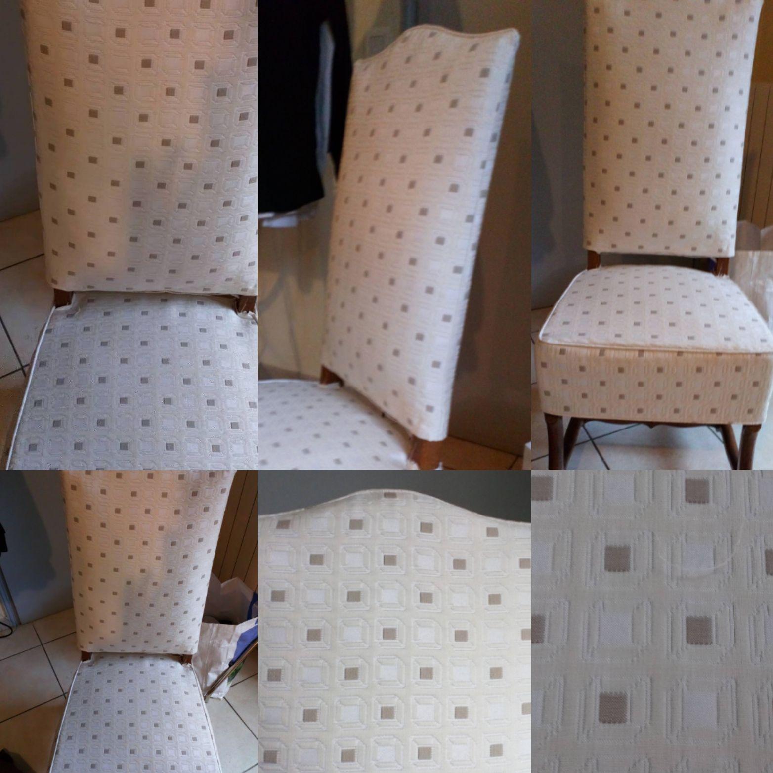 Housses de chaises LOUIS XIII de salons sur mesures en deux