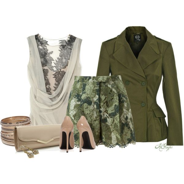 Updated Military Chic by kginger on Polyvore