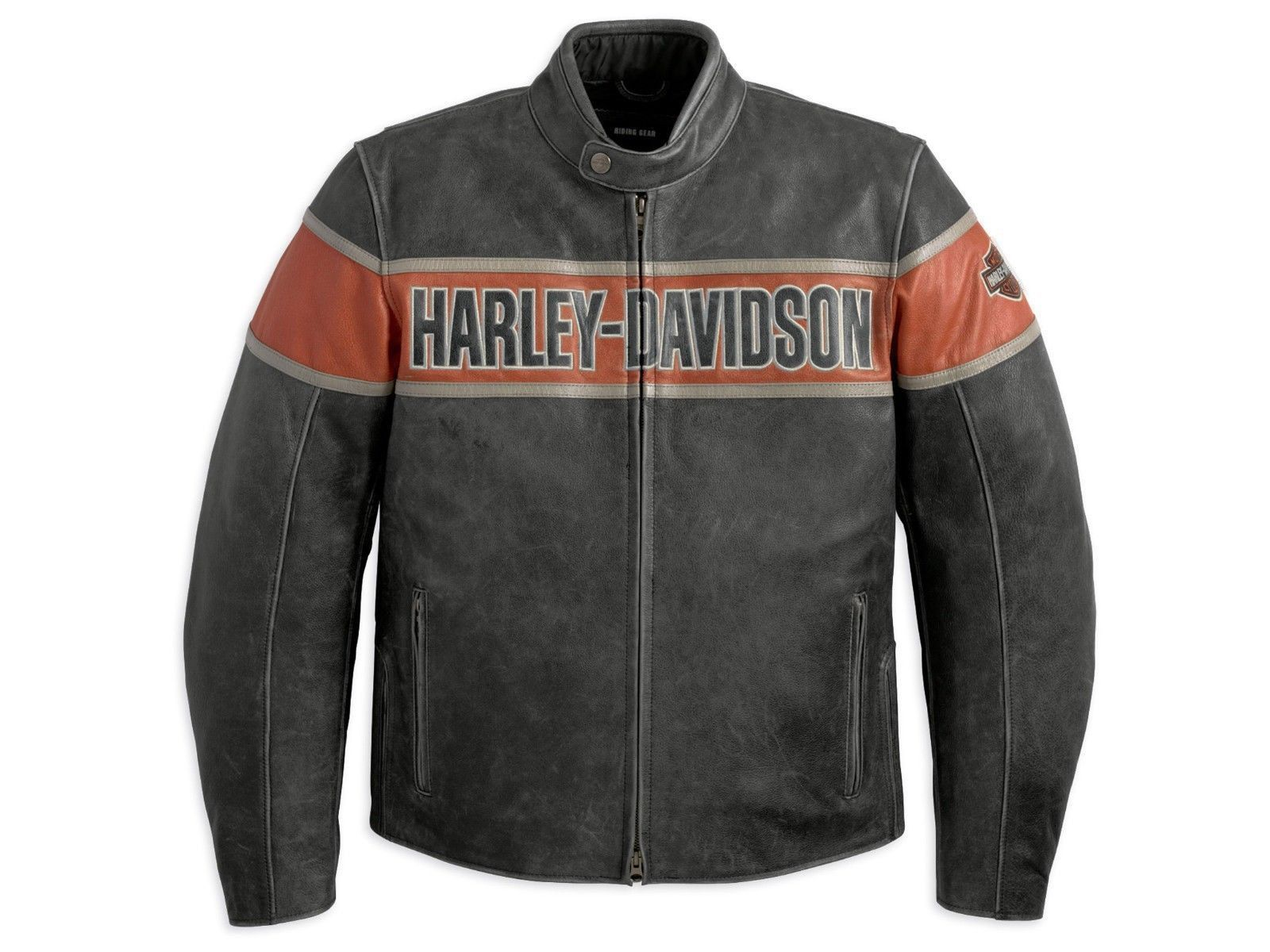 Harley Davidson Men's Victory Lane Black Leather Jacket S