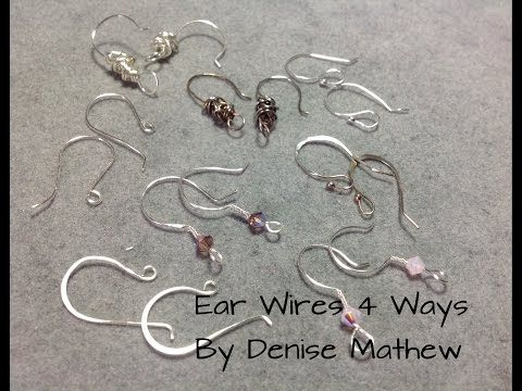 To skip the intro where I show you images of past and future tutorials and project skip ahead 1:00. This is a tutorial on how to make ear wires in four diffe...