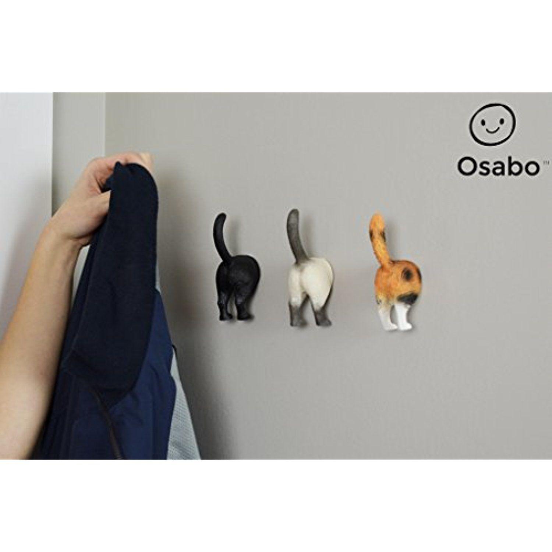 office coat hanger. OSABO | Cat Butt Hooks Hanger Wall Mounted Coat Rack Office