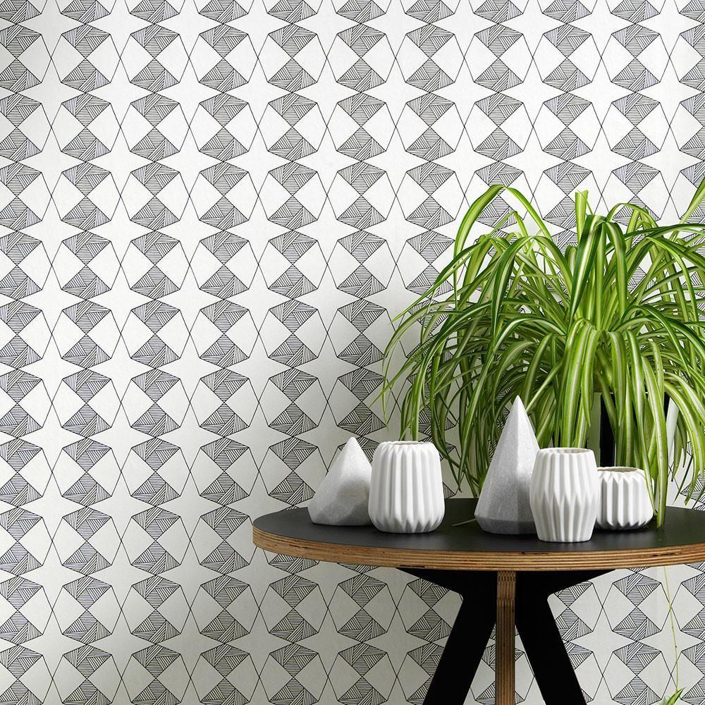 Etoile Wallpaper Contemporary geometric wallpaper