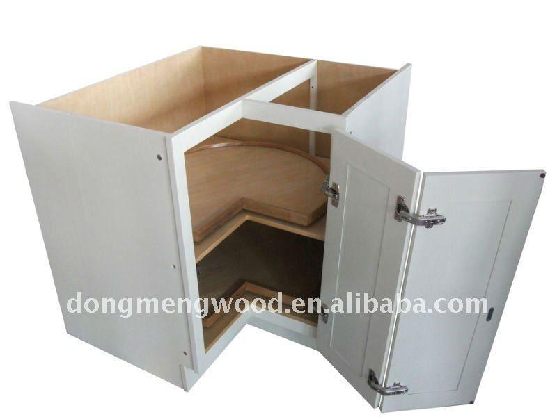 base de madera sólida del gabinete de la esquina-Armarios/Gabinetes ...