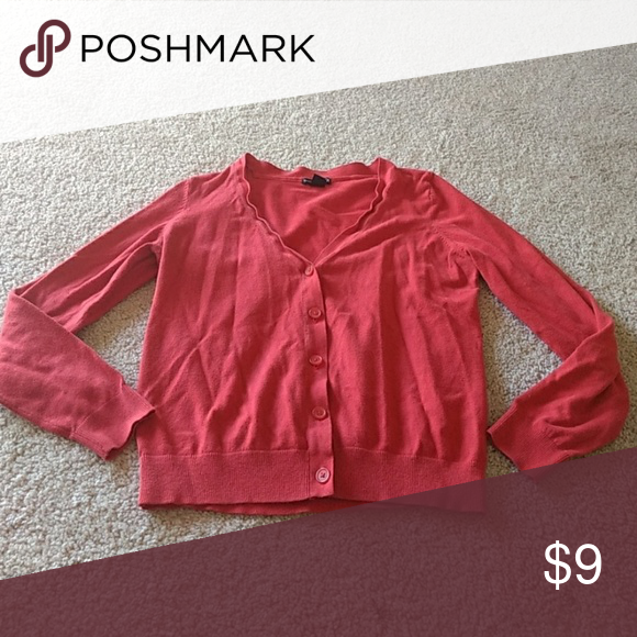 Red Cardigan Basic red cardigan.  Used, but lots of life left! H&M Sweaters Cardigans