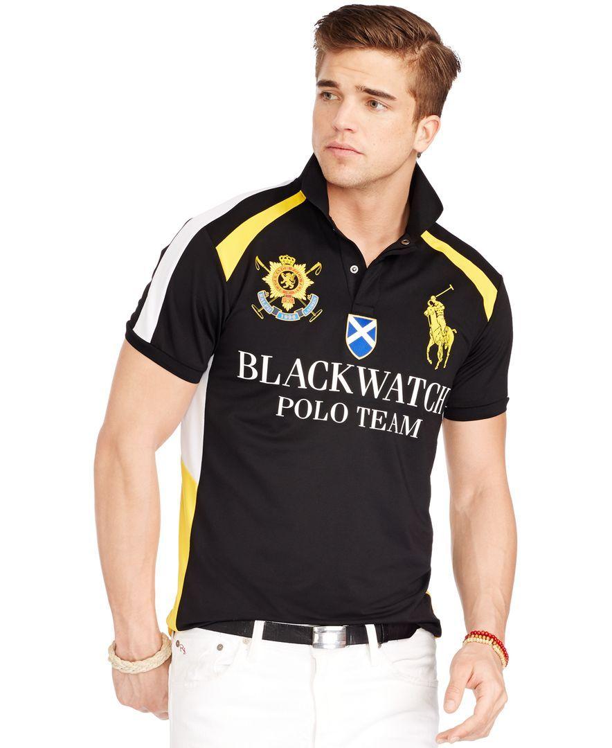 137ec1ac0 Polo Ralph Lauren Black Watch Airflow Jersey Uniform Shirt