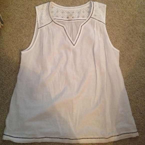 J. Crew white cotton tank. Gorgeous. Worn twice but it is a bit too big now. J. Crew Tops Tank Tops