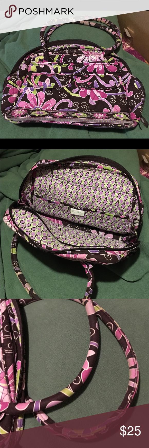 Vera Bradley Purple Punch Bowler Bag Great used bag, still has plenty of  life left c699150433